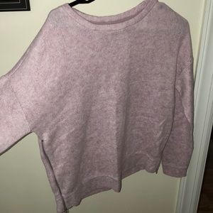 Urban Outfitters light pink sweater with zippers
